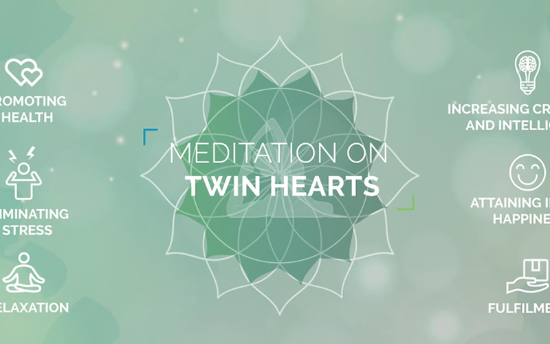 What happens during the  meditation on Twin Hearts?